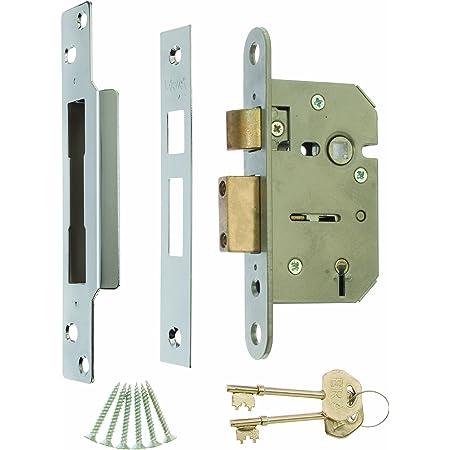 "Satin Chrome Mortice Door Lock 2.5/"" ERA Fortress 26251 BS 5 Lever Sashlock 64mm"