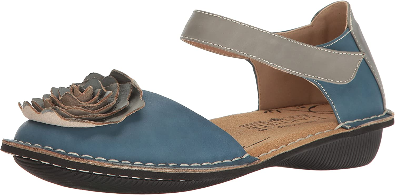 L'Artiste by Spring Step Womens Caicos-bluem Mary Jane Flat