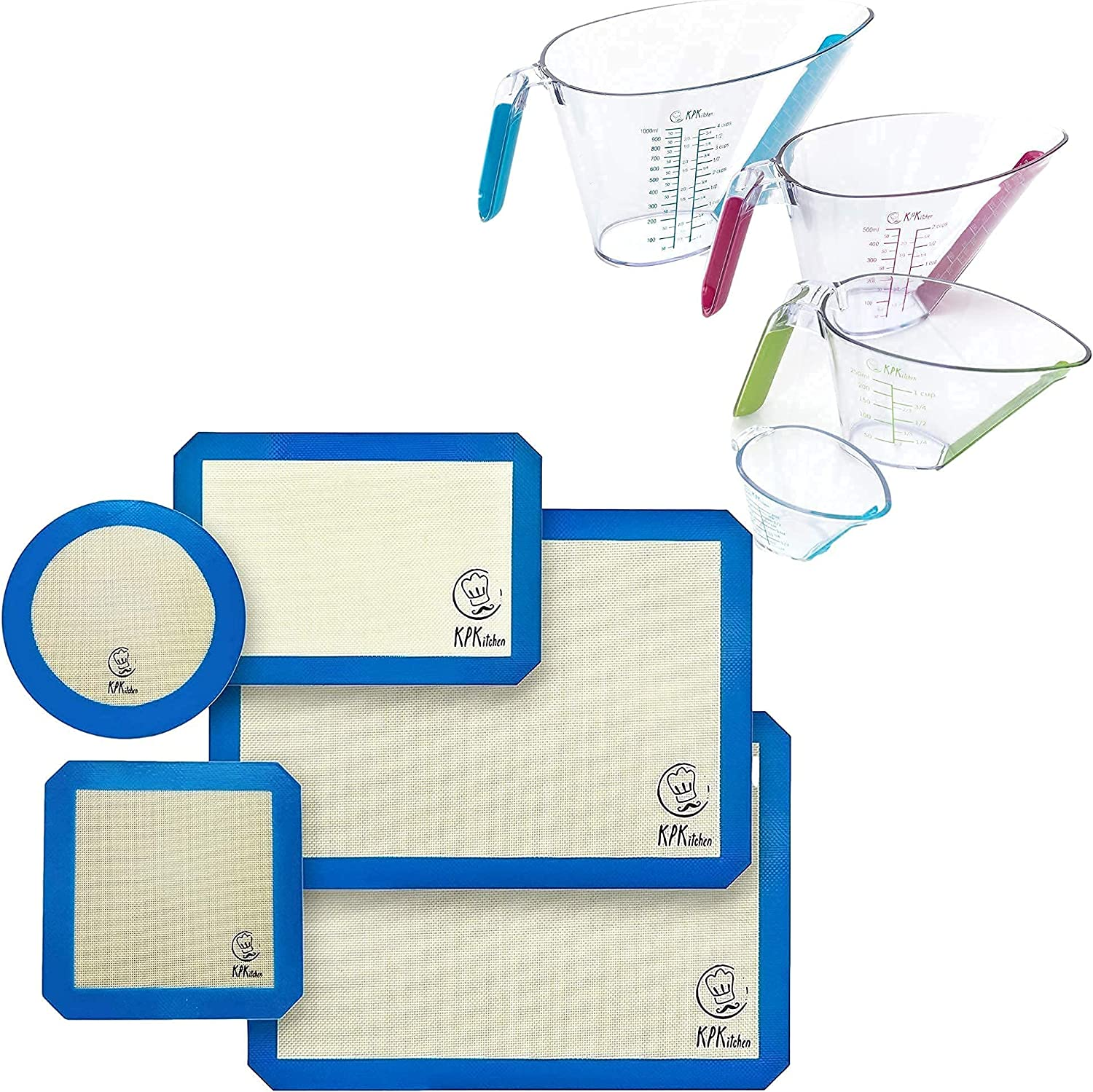 KPKitchen Silicone New York Mall Baking Mats Set of 5 Liquid and NEW Measu 4-Piece