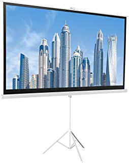 AmazonBasics 16:9 Portable Projector Screen - 100 Inch, White