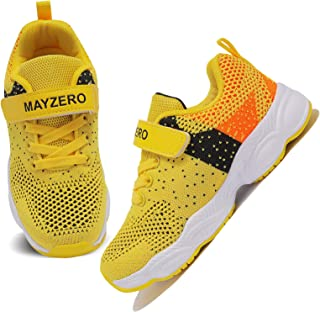 Lingmu Girl's Boys Fashionable Running Shoes Kid Breathable Non-Slip Tennis Shoes Outdoor Sports Shoes Children's (Toddle...