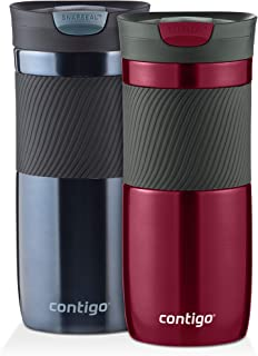 Contigo Byron SnapSeal Vacuum-Insulated Travel Mug, Spiced Wine and Stormy Weather , 16 oz, (Pack...