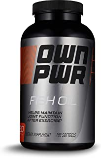 OWN PWR Fish Oil Supplement, 180 Softgels, Fish Oil 1250 MG, Omega-3 700 MG