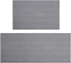 HEBE Cotton Area Rug Set 2 Packs 2'x3'+2'x4.2' Machine Washable Reversilbe Woven Cotton Rugs and Runner Set for Kitchen Fl...
