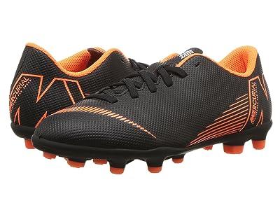 Nike Kids Vapor 12 Club MG Soccer (Toddler/Little Kid/Big Kid) (Black/Total Orange/White) Kids Shoes