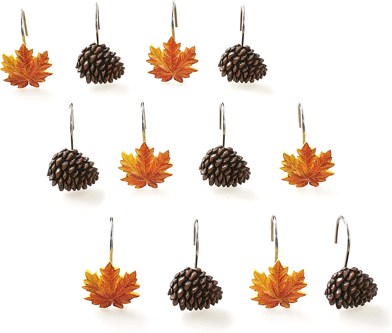 The Ranking TOP17 Lakeside Collection Autumn Forest Pine Hooks with Con Max 86% OFF Shower