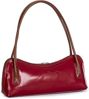 LIATALIA Genuine Italian Leather Small Satchel Clutch Evening Shoulder Bag - ARYA