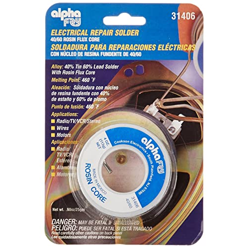 Alpha Fry AM31406 Cookson Elect 40/60 Electrical Rosin Core Solder