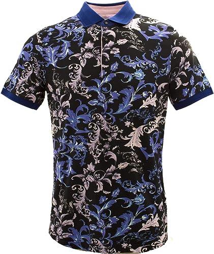 Claudio Lugli Fleurs Marines Vagues Pure Coton Pour des hommes Polo T-Shirt