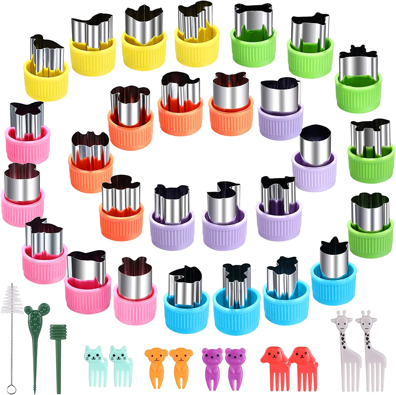 Vegetable Cutter Shapes Set - 28 Pcs Mini Sizes Cookie Cutters Set,for Kids Baking and Food Supplement Tools Accessories Crafts for Kitchen