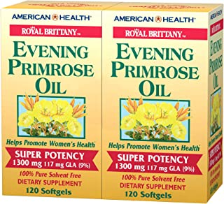 American Health Royal Brittany Evening Primrose Oil Softgels, 2 Pack - Promotes Women's Health - Nutritional Support for W...