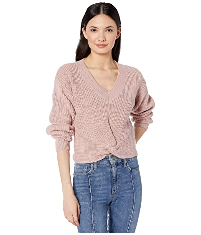 WAYF Varsity Knot Front Sweater (Blush) Women