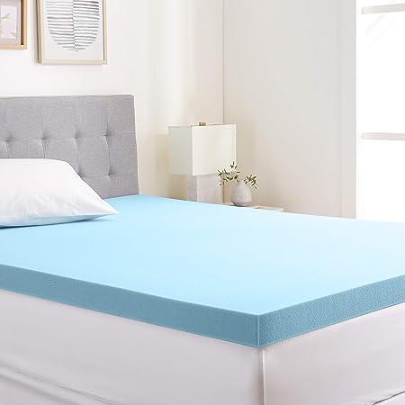 Best Price Mattress 4 Gel Memory Foam Mattress Topper Full Blue
