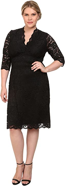 Kiyonna - Scalloped Boudoir Lace Dress