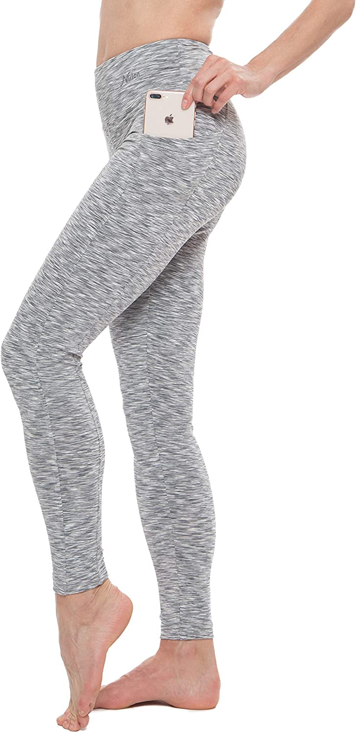 Nirlon Women's Leggings with Pockets P High Luxury goods Cheap mail order specialty store Waisted Workout Yoga