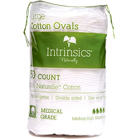 """Intrinsics 407406 Large Oval Cotton Pads 3"""" - 50 Count"""