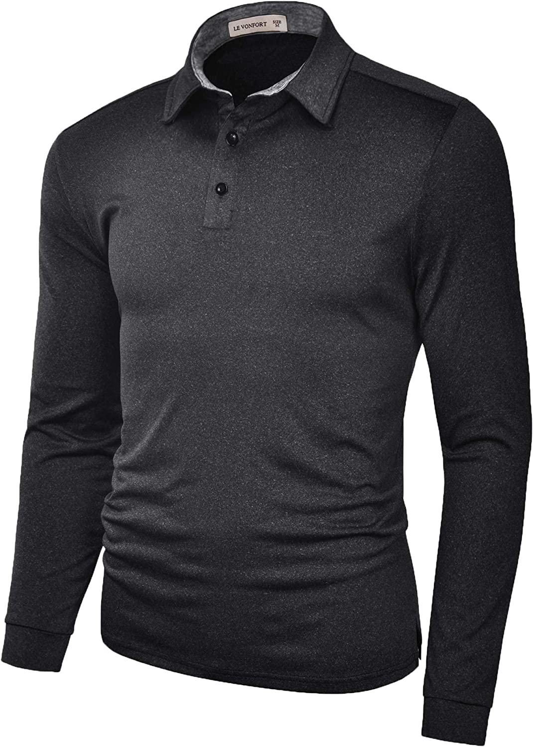 Moisture Wicking Long Sleeve Shirts for Polo Men Golf At Minneapolis Max 58% OFF Mall Fit Dry