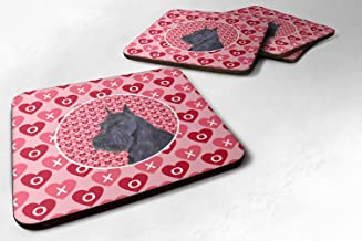 "Caroline's Treasures SS4523FC Schnauzer Foam Coasters (Set of 4), 3.5"" H x 3.5"" W, Multicolor"