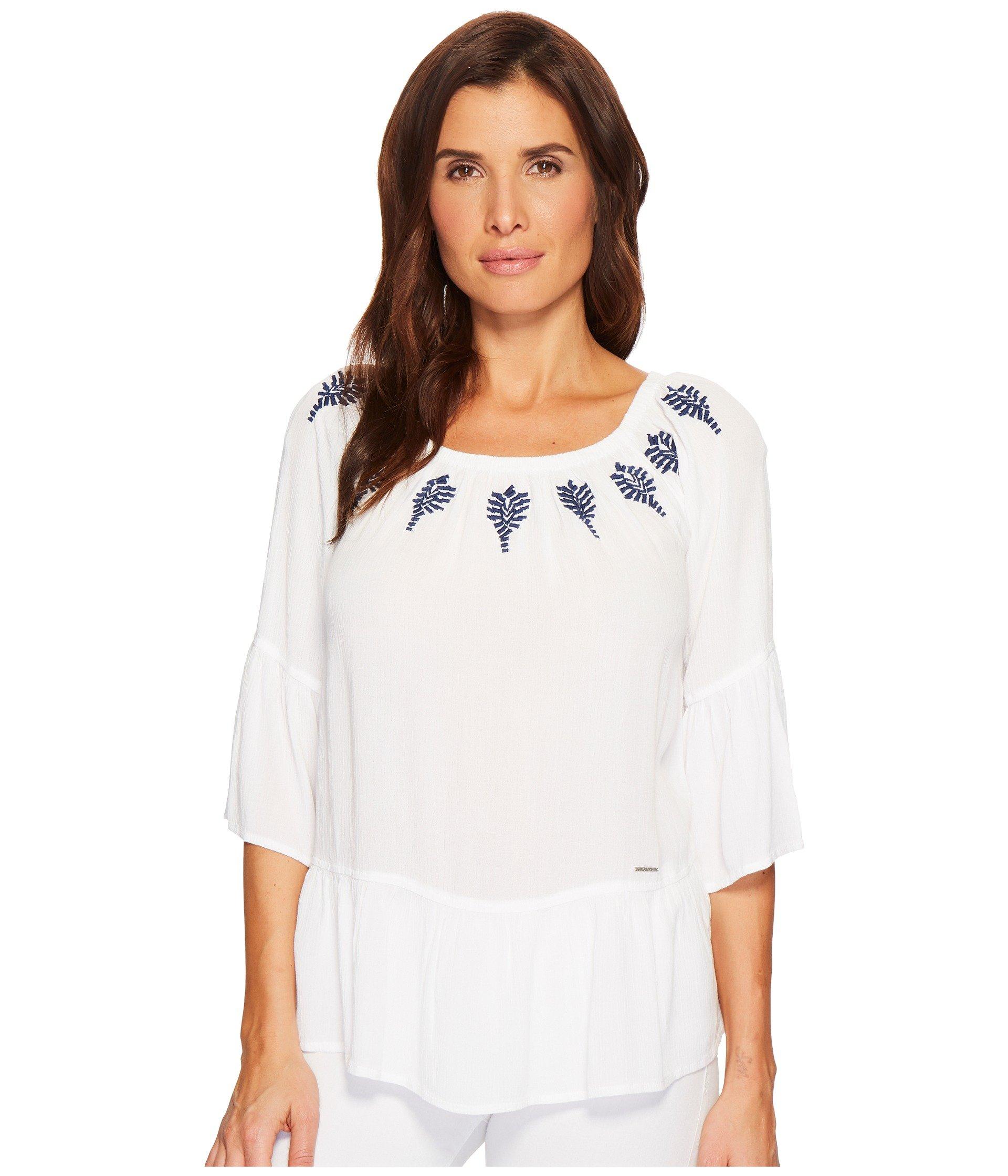 Blusa para Mujer U.S. POLO ASSN. Elbow Peasant Blouse  + U.S. POLO ASSN. en VeoyCompro.net