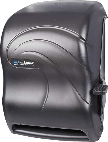 wholesale San Jamar lowest T1190TBK Lever Roll Towel Dispenser, Oceans, Black Pearl, 12 15/16 x 9 high quality 1/4 x 16 1/2 outlet sale