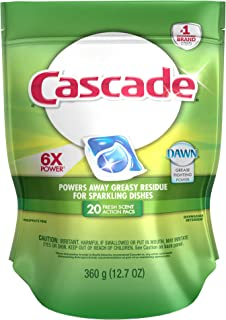 Cascade ActionPacs Fresh Scent Dishwasher Detergent 20 Count