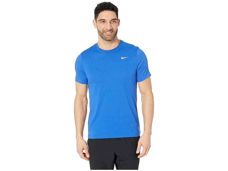 Nike Dry Tee Dri-FITtm Cotton Crew Solid (Game Royal/White) Men