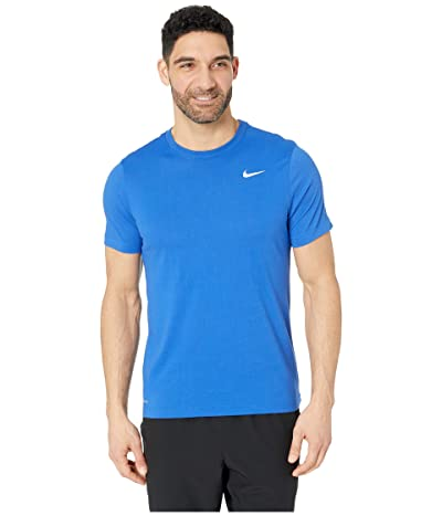 Nike Dry Tee Dri-FITtm Cotton Crew Solid (Game Royal/White) Men