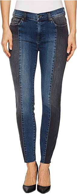 7 For All Mankind - Ankle Skinny w/ Piecing & Cut Off Hem in Indigo Sulphur