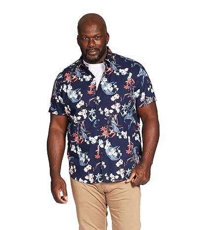 Johnny Bigg Big Tall Lauderdale Print Shirt (Navy) Men