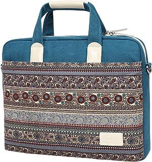 BLOOMSTAR 15 Inch Canvas Laptop Sleeve Bag Notebook Computer Handbag Briefcase School Shoulder Messenger Bag for MacBook Chromebook Acer Asus Dell Fujitsu Lenovo HP Samsung Sony Toshiba (Blue)
