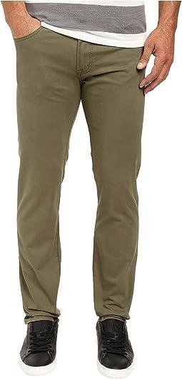 Corduroy Skinny Fit Five-Pocket Jeans in Olive Dusk