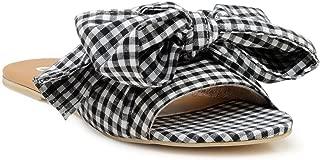 Chalk Studio - Gingham Black Bow Tie - Sandals