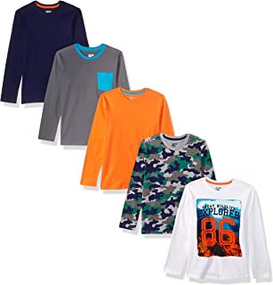 Amazon Brand - Spotted Zebra Boy's Toddler & Kids 5-pack Long-sleeve T-shirts