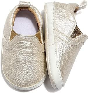 Bebila Infant Baby Boys Girls Canvas Shoes - Unisex Toddler Slip on Soft Sole Moccasins Flats First Walker Sneaker Newborn Crib Shoes