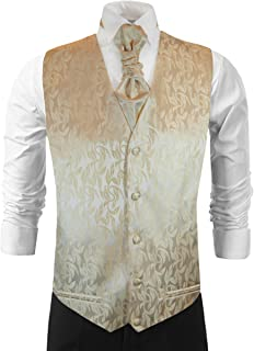 Paul Malone Cappuccino Brown Wedding Vest with Tie, Cravat, Pocket Square and Cufflinks