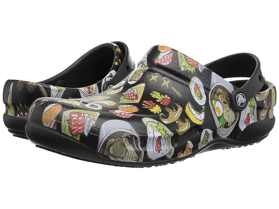 Crocs Bistro Graphic Clog (Black/Tumbleweed) Clog/Mule Shoes