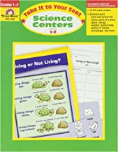 Evan-Moor 192 Pages Take It to Your Seat Science Centers Book, Grades 1 to 2
