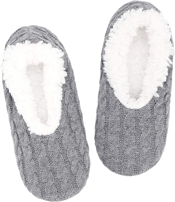 Panda Bros Slipper Socks For Women With Grippers, Fuzzy Womens Slipper Socks With Non Slip Bottoms, Cozy Warm House Slippers