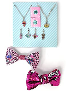 LOL Surprise! Necklace and Bracelet with Charms Set Bundled with 2 Bows