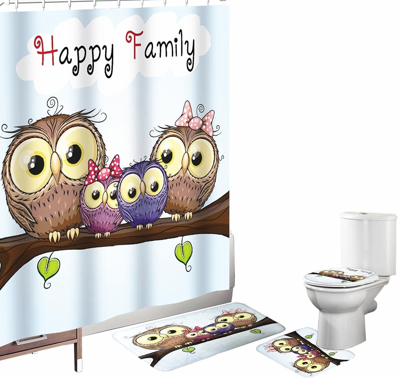 Amagical 16 trend rank Piece Bathroom Mat Curtain Shower St Cartoon Set 70% OFF Outlet