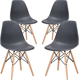 Poly and Bark Vortex Side Chair, Grey, Set of 4
