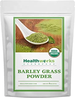 Healthworks Barley Grass Powder (8 Ounces) | Organic & Raw | All-Natural, Vegan & Keto-friendly | Great with Smoothies, Dr...