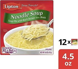 Lipton Instant Soup Mix, Noodle, 4.5 oz, Pack of 24