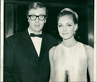 Vintage photo of Camilla Sparv and Michael Caine