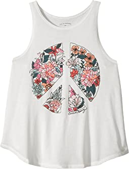 Billabong Kids - Flowers of Peace Tank Top (Little Kids/Big Kids)