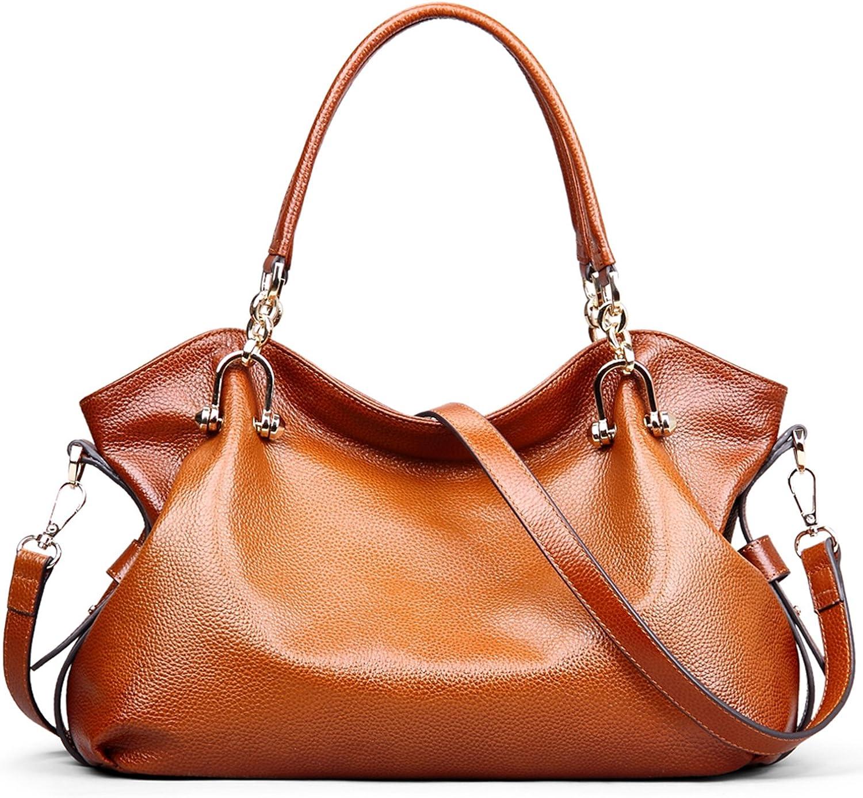 Pacii Fashion Unique Dumplings Header Layer of Leather Shoulder Handbags