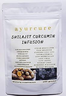 AYURCURE shilajit Curcumin Infusion. Minerals superfood. Ayurvedic Herbal. Turmeric and fulvic Acid Together for Immunity ...