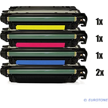 4x Eurotone Toner für HP LaserJet Enterprise 500 color M-551-n M-551-xh M-575-c