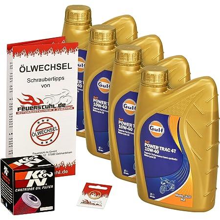 Gulf 10w 40 Öl K N Ölfilter Für Yamaha Xjr 1300 Sp Racer 99 15 Rp02 Rp06 Rp10 Rp19 Ölwechselset Inkl Motoröl Filter Dichtring Auto