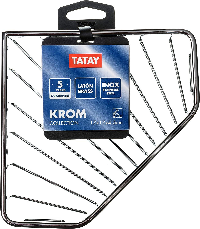 TATAY Krom Panier Acier Inoxydable 9x3x20 cm chrom/é